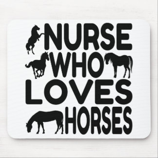 Horse Lover Nurse Mouse Pad