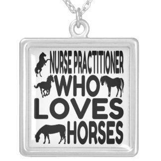 Horse Lover Nurse Practitioner Necklace