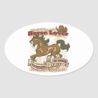 Horse Lover Oval Sticker