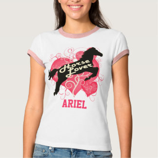 Horse Lover Personalized Ariel Tshirt