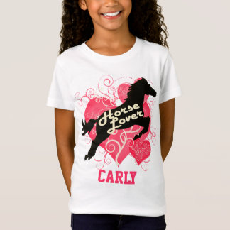 Horse Lover Personalized Carly T-Shirt
