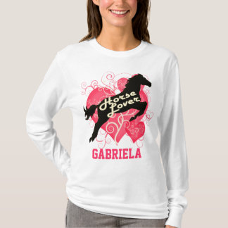 Horse Lover Personalized Gabriela T-Shirt