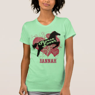 Horse Lover Personalized Hannah T Shirt