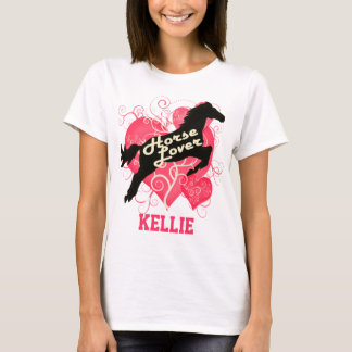Horse Lover Personalized Kellie T-Shirt