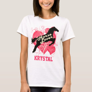Horse Lover Personalized Krystal T-Shirt