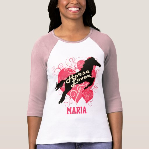 Horse Lover Personalized Maria Shirts
