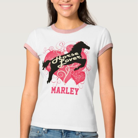Horse Lover Personalized Marley T-Shirt