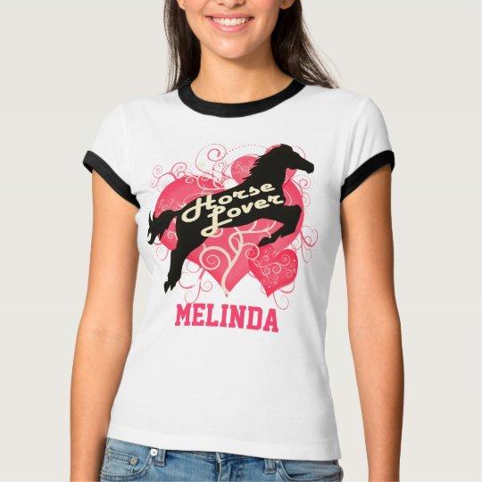 Horse Lover Personalized Melinda T-Shirt