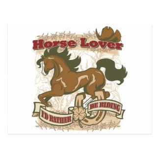 Horse Lover Postcard