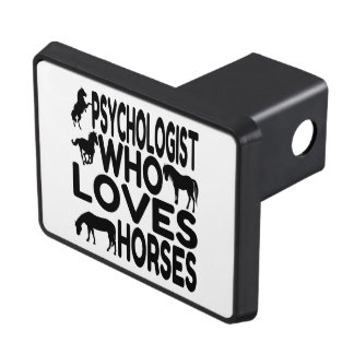 Horse Lover Psychologist Tow Hitch Cover
