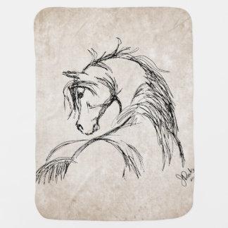 Horse Lover Receiving Blanket