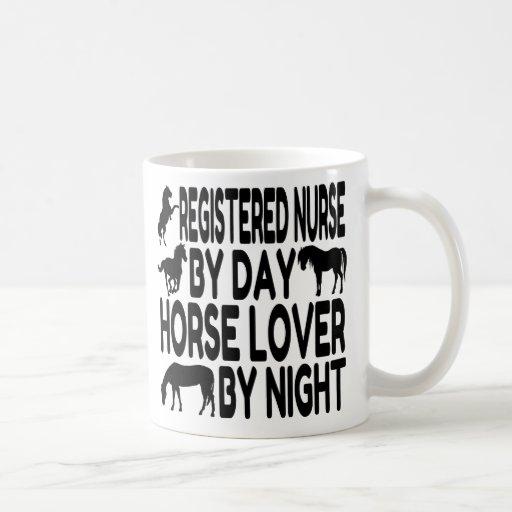 Horse Lover Registered Nurse Coffee Mugs