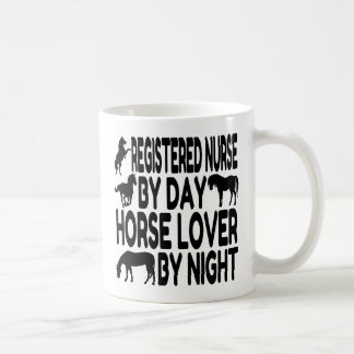 Horse Lover Registered Nurse Classic White Coffee Mug