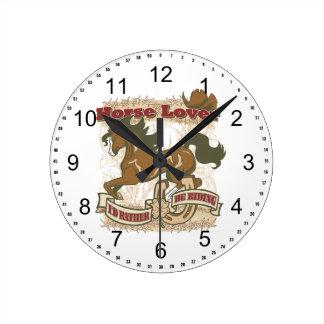 Horse Lover Round Clock