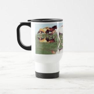 Horse-lover s Mustang Herd Art Travel Mug