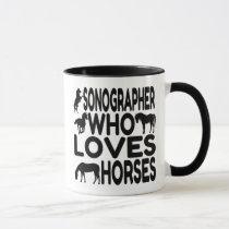 Horse Lover Sonographer Mug