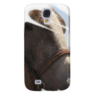 Horse Lover Stallion Face Closeup Animal Photo Samsung Galaxy S4 Cover