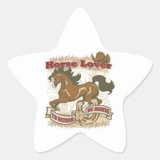 Horse Lover Star Sticker