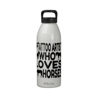 Horse Lover Tattoo Artist Reusable Water Bottle