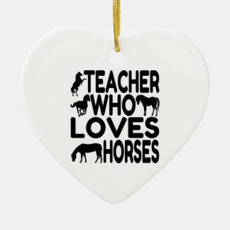 Horse Lover Teacher Christmas Ornament