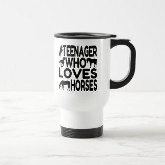 Horse Lover Teenager 15 Oz Stainless Steel Travel Mug