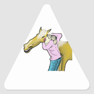 Horse Lover Triangle Sticker