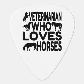 Horse Lover Veterinarian Guitar Pick