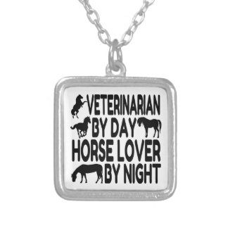 Horse Lover Veterinarian Silver Plated Necklace