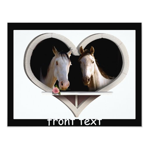 Horse Lovers 4.25x5.5 Paper Invitation Card