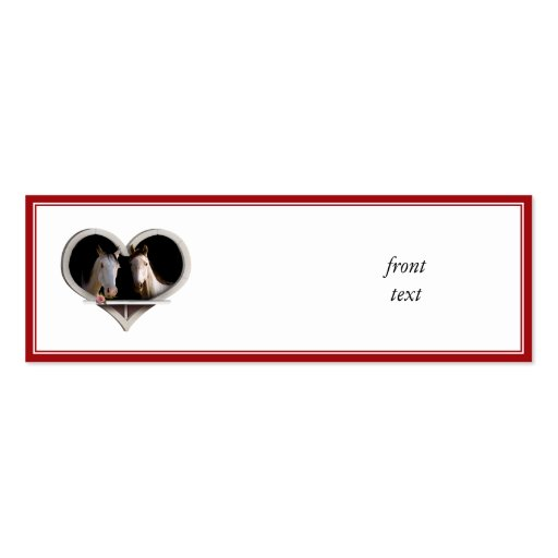 Horse Lovers (Add Your Text) Business Card