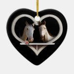Horse Lovers (Add Your Text) Christmas Tree Ornament