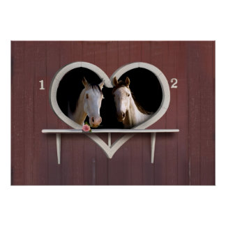 Horse Lovers (Add Your Text) Poster