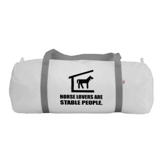 Horse Lovers Are Stable People Duffle Bag