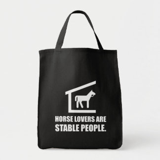 Horse Lovers Are Stable People Tote Bag