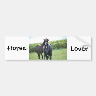 Horse Lovers Car Bumper Sticker