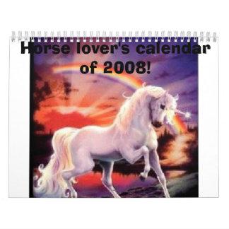 Horse lover's calendar of 2008!