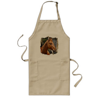 Horse-lover's Equine Animal Design Long Apron