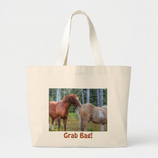 Horse-lover's Equine Photo on a BC Ranch Large Tote Bag