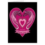 Horse Lovers Heart Card