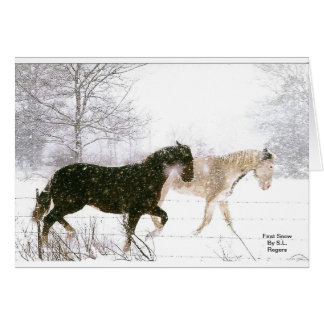 Horse lovers must have items card