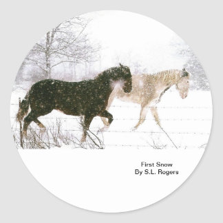 Horse lovers must have items classic round sticker