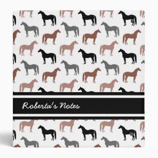 Horse Lover's Pattern 3 Ring Binder