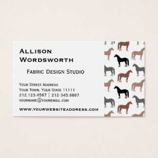 Horse Lover's Pattern Business Card