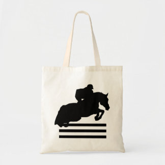 Horse Lovers Show Jumper Silhouette Tote Bag