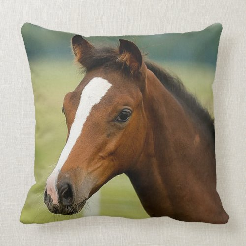Horse Lovers Square Throw Pillow