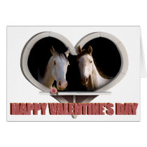 Horse Lovers Valentine Card