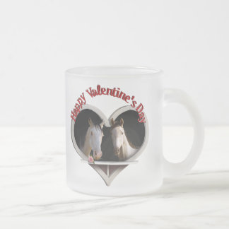 Horse Lovers Valentine Frosted Glass Coffee Mug