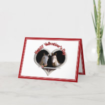 Horse Lovers Valentine Holiday Card