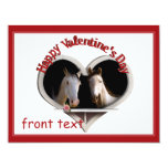 Horse Lovers Valentine 4.25x5.5 Paper Invitation Card