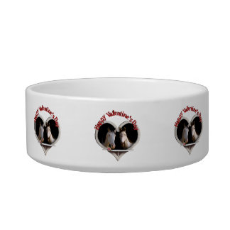 Horse Lovers Valentine Cat Water Bowls